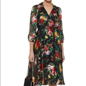 Alice + Olivia Abbey floral wrap dress NWT Size 0